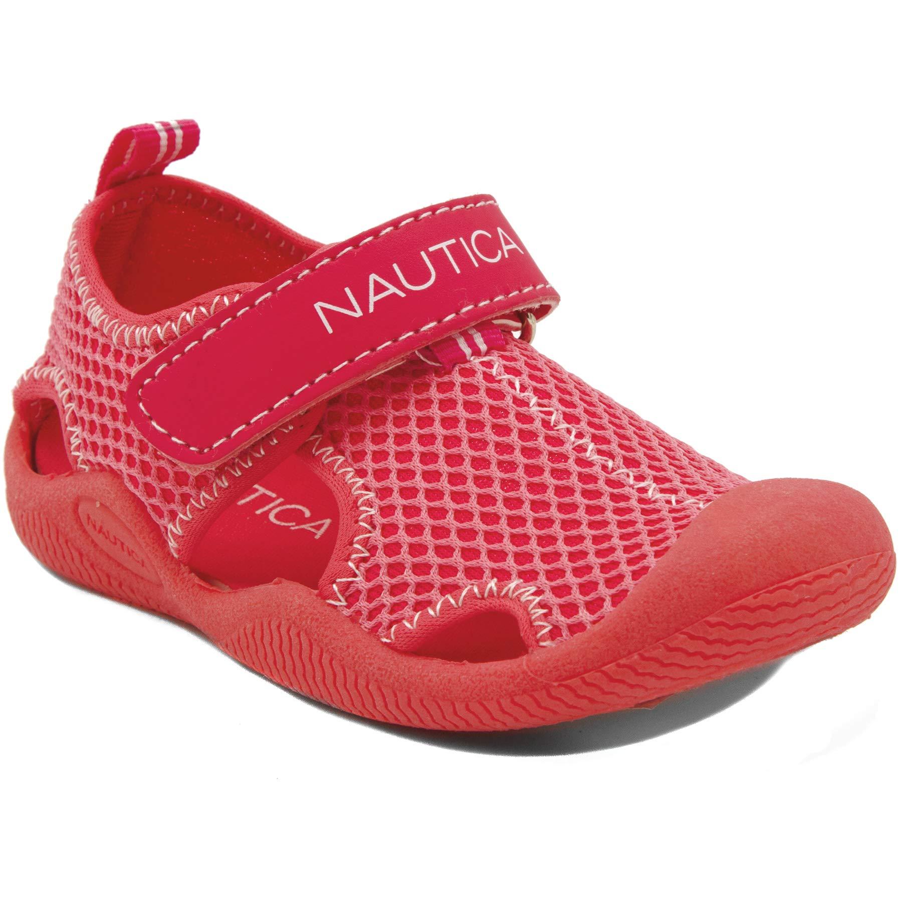 Nautica Kids Kettle Gulf Protective Water Shoe,Closed-Toe Sport Sandal-Pink/LT Pink-7