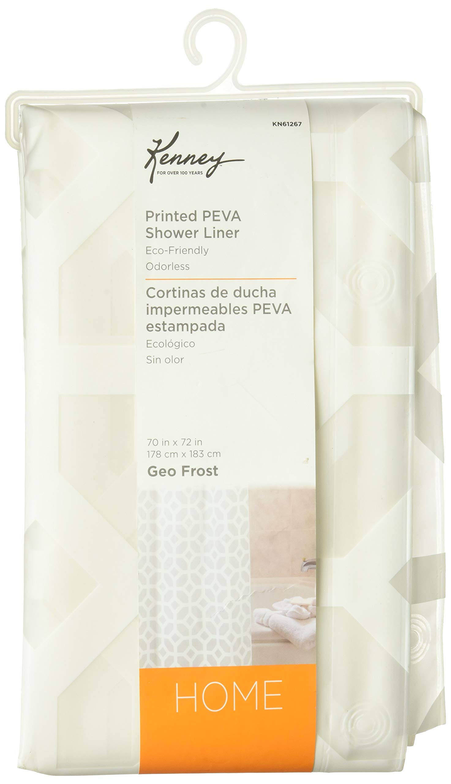 Kenney Geometric Frost Shower Curtain Liner by Kenney