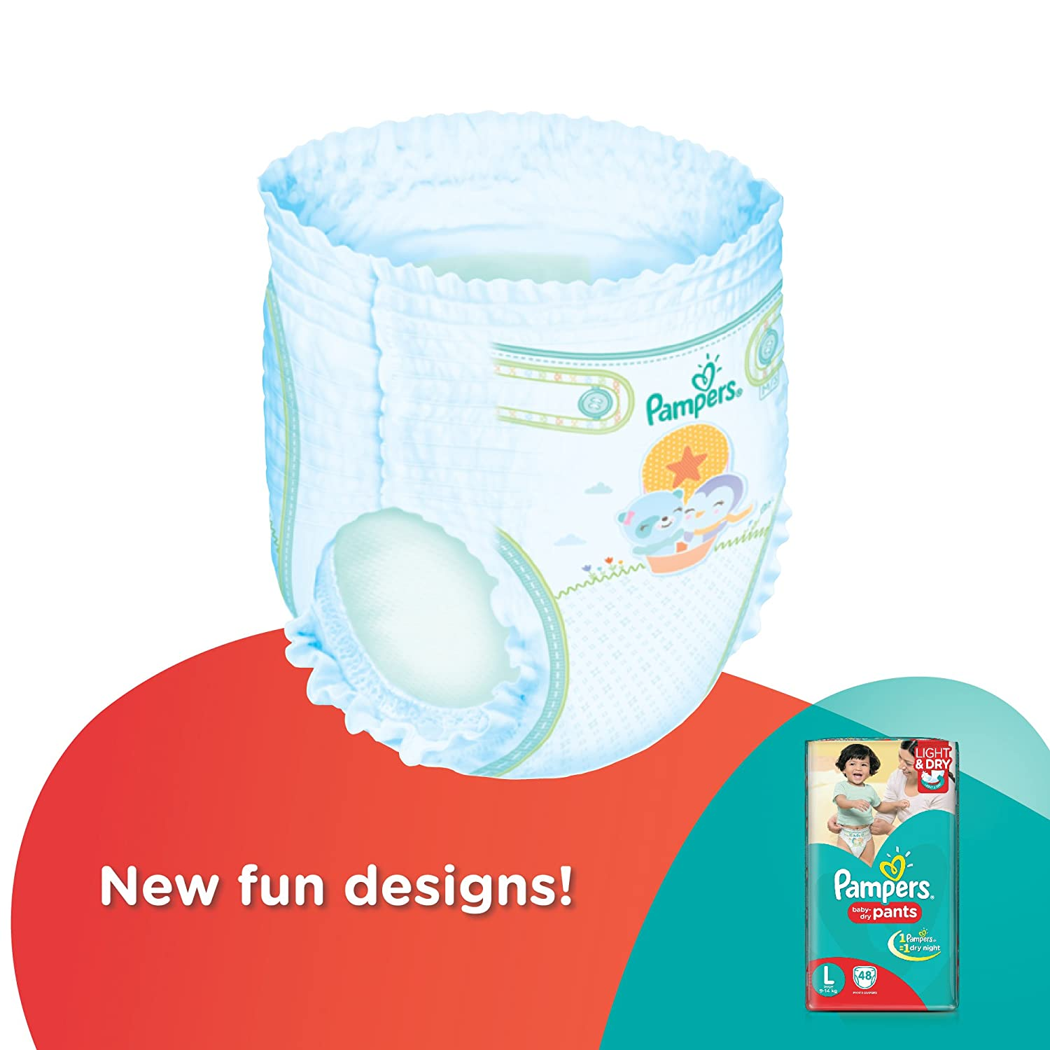 buy pampers large size diaper pants 48 count online at low prices in india amazonin