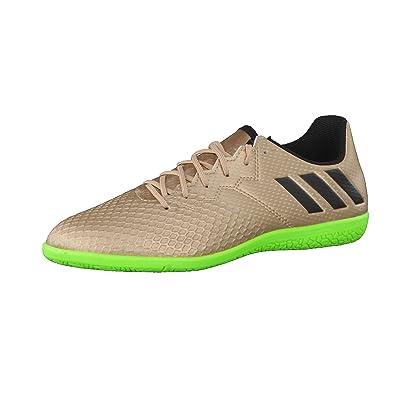 adidas Messi 16.3 IN Niño, Zapatilla de fútbol Sala, Copper Metallic-Core Black-Solar Green: Amazon.es: Deportes y aire libre