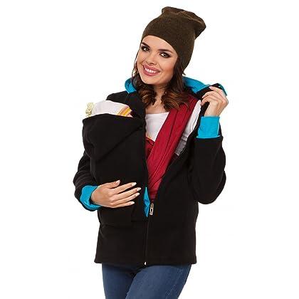 4bbdf3383b4eb Zeta Ville - Womens Top Maternity Hooded Sweatshirt Babywearing Carrier -  032c (Black, US 4/6, S)