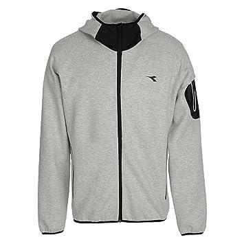 1f71dcdc96 Diadora Evo Hd Men's Hooded Sweatshirt grey Grigio Melange Medio ...