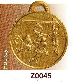 SPORTIVA Lot de 10 médailles de première qualité pour Hockey – Finition en Alliage de zamak avec Ruban Tricolore – Fabriqué en Italie