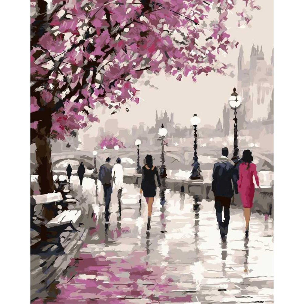 Luxsea Paint by Numbers Diy Painting for Adult Kids Famous Painting Collection Frameless