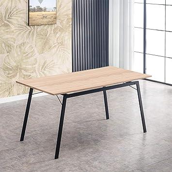 Mc Haus Negro Mesa Rectangular GASHIRA diseño Moderno Comedor ...