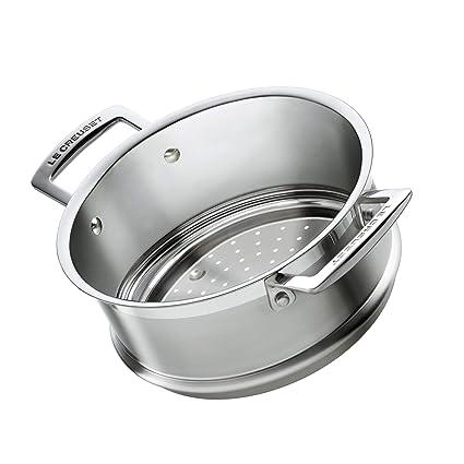 Le Creuset 3-Ply Accesorio de vapor, Ø 20 cm, acero ...
