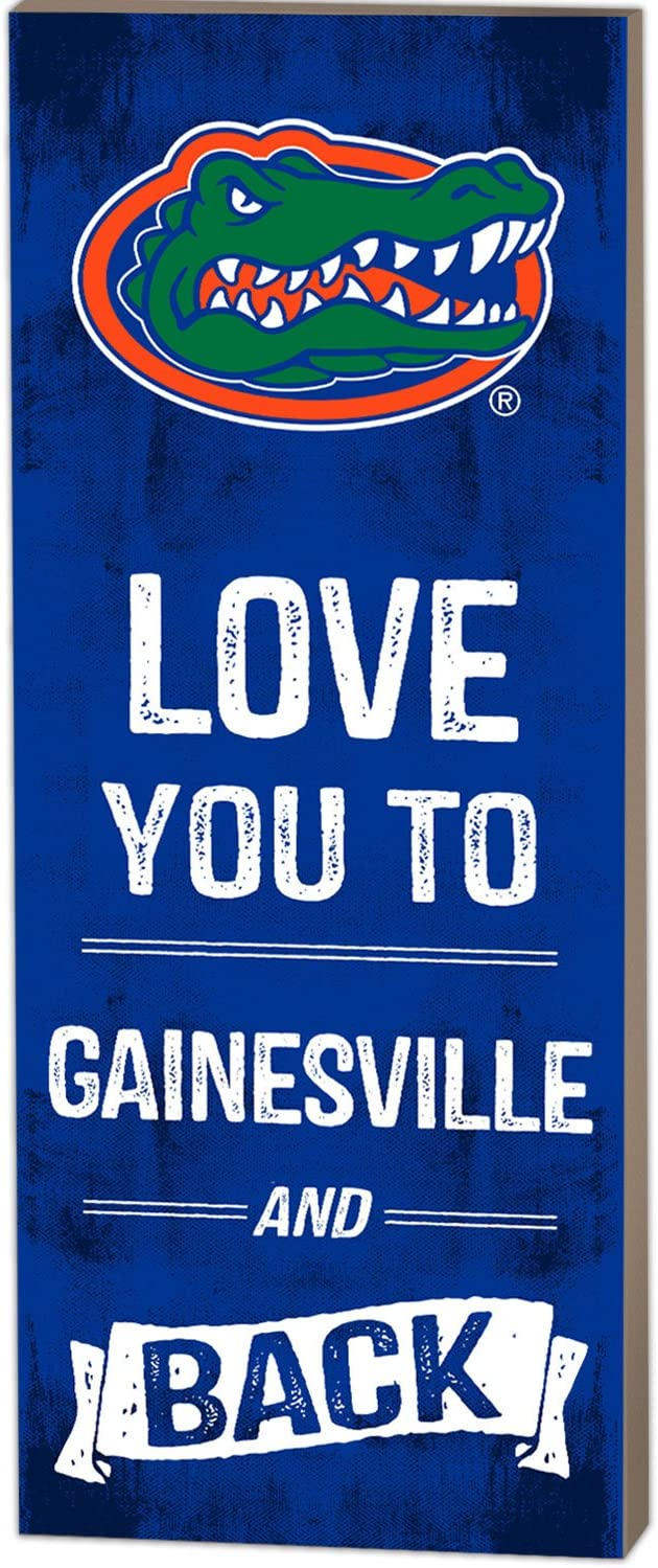 KH Sports Fan 7 x 18 Florida Gators Love You To College Logo Plaque