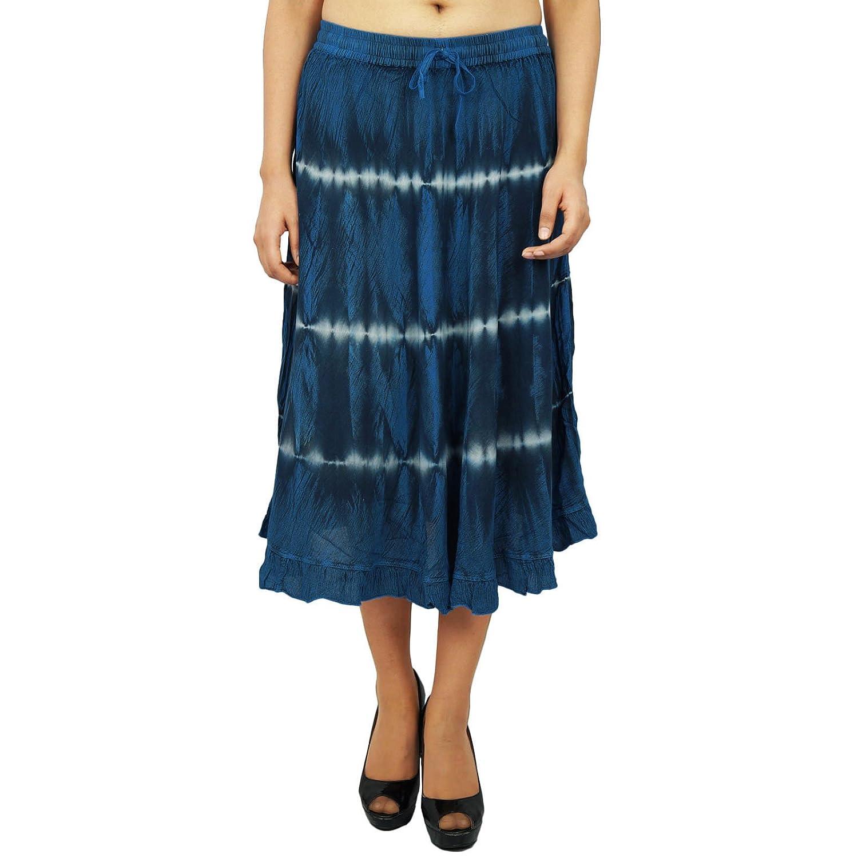 Maxi Strand-Abnutzungs-Rayon Gypsy-Rock Knie Lange Boho Hippie-Frauen-Sommer-Kleidung