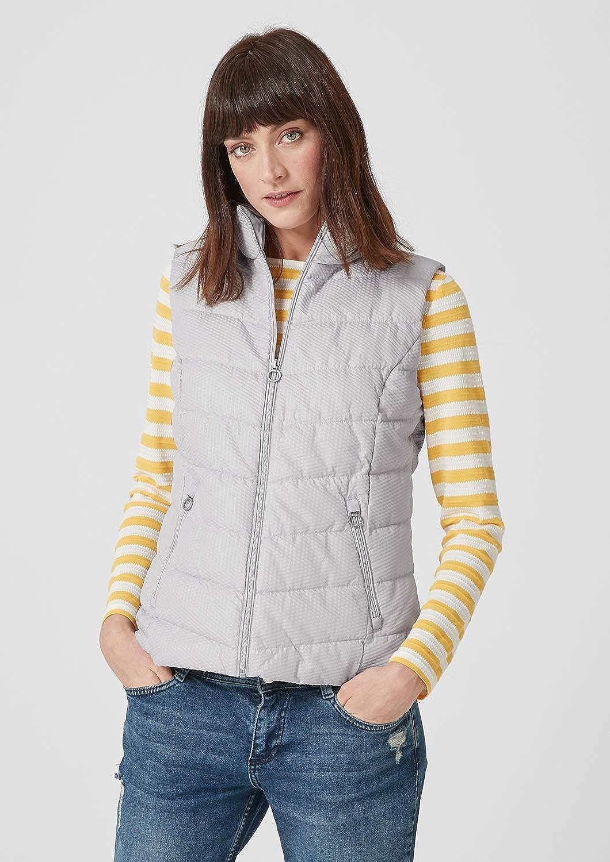 s.Oliver Women's Outdoor Gilet Grey (Light Grey 9025)