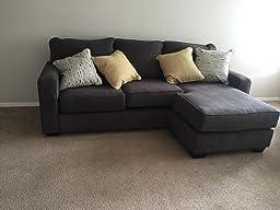 Ashley hodan 7970018 93 inch sofa chaise with for Ashley hodan sofa chaise