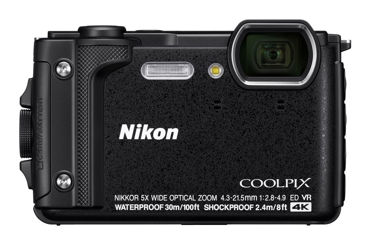 Nikon Coolpix W300 - Cámara compacta de 16 MP (WiFi, Bluetooth, 4K UHD, CMOS, Nikkor, SnapBridge, Videos Time-Lapse, reducción de la vibración, AF, TFT LCD) Negro - Kit con mochilla