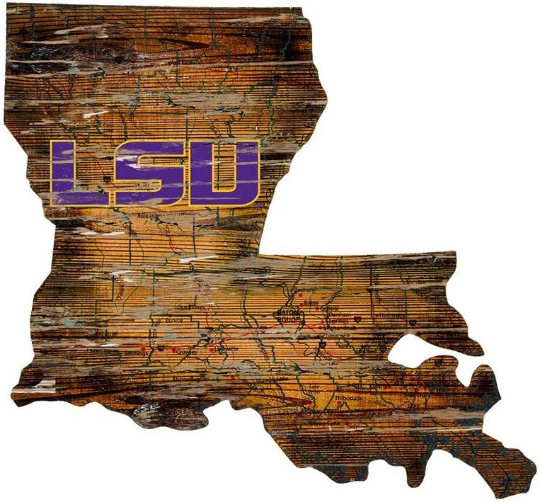 Fan Creations LSU Cutout Sign (State), Multi
