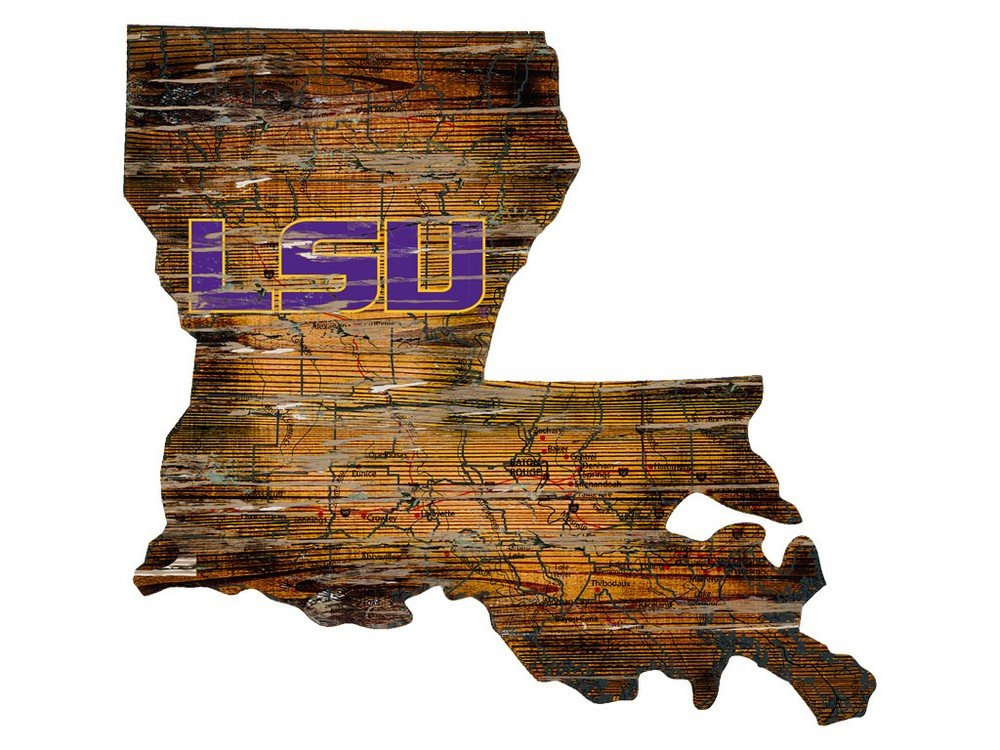 Fan Creations LSU Cutout Sign (State), Multi by Fan Creations