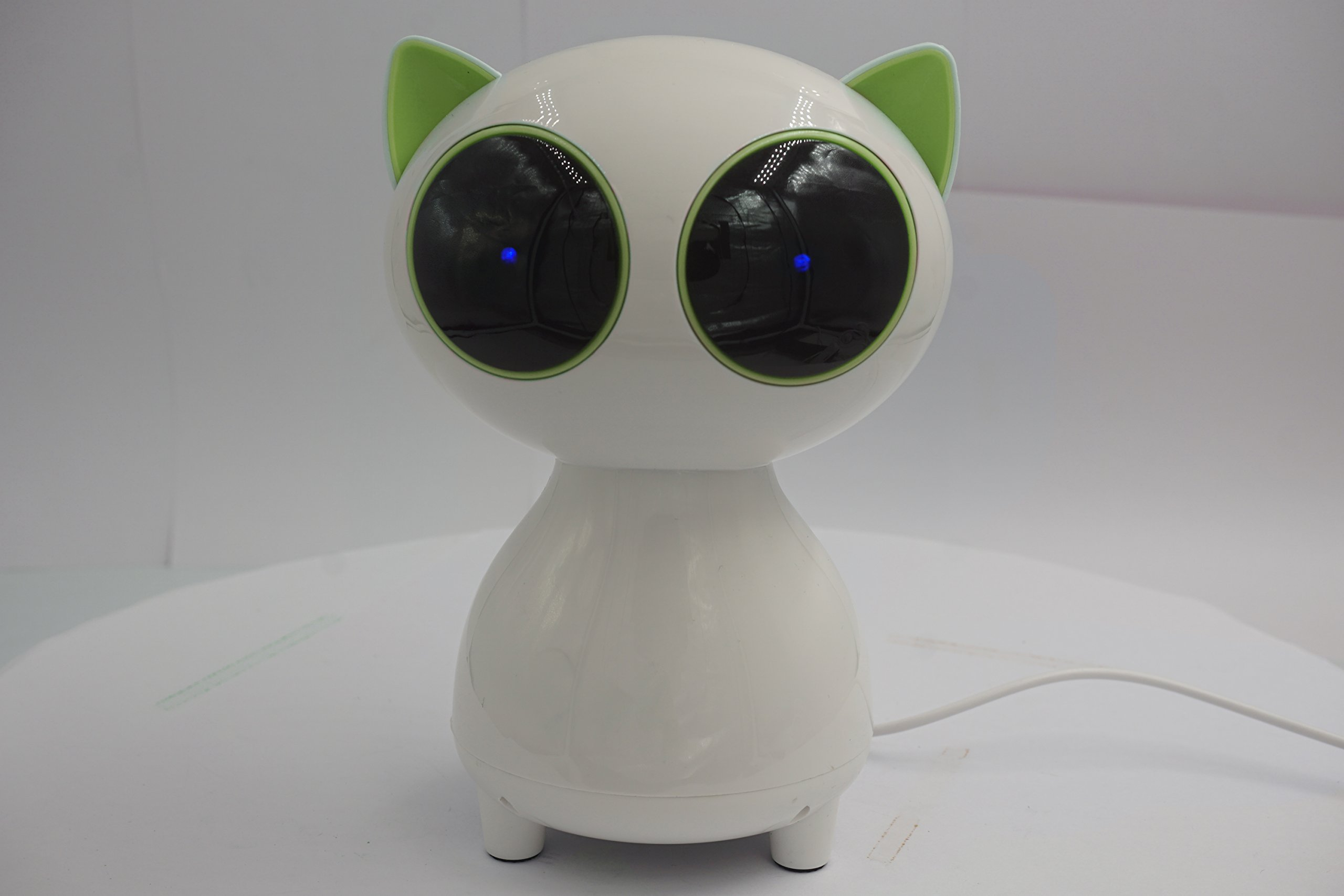 Cat USB Speaker- Wired Speaker 2.0 Channel Small Computer Desktop phone Speaker for PC, Echo Dot, Updated Version- WEIYATS (green) by WEIYATS (Image #2)
