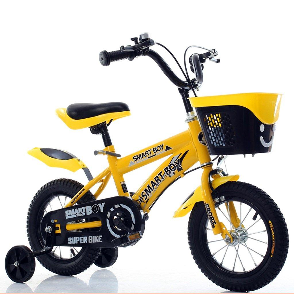 気質アップ CHS@ 子供用自転車3-3-5-6-9歳の男の子と女の子ベイビーキャリッジ12 CHS@/14/16/18インチキーの自転車、フラッシュトレーニングホイール付き 子ども用自転車 : (色 いえろ゜ : イエロー いえろ゜, サイズ さいず : 14