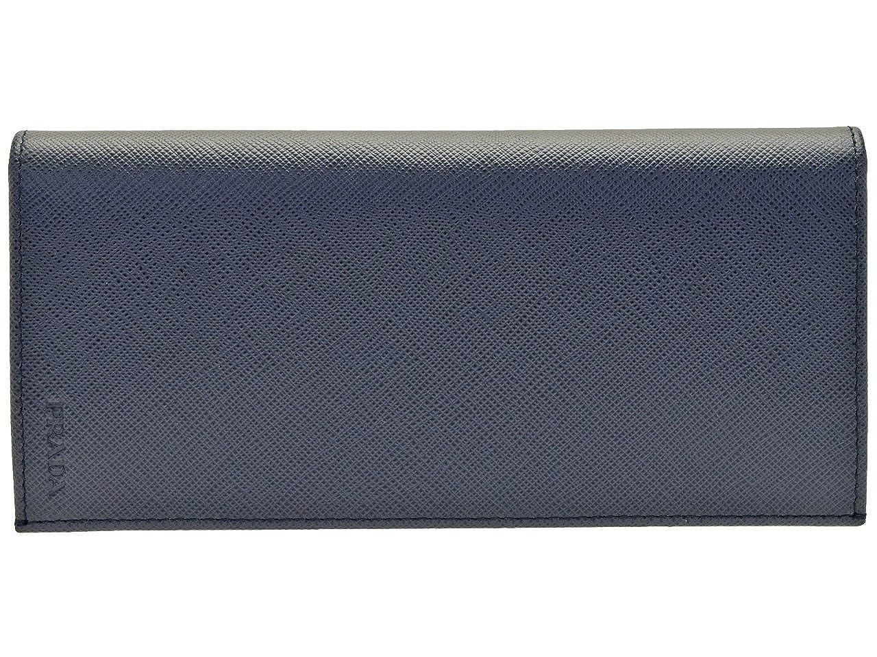 (プラダ) PRADA 財布 長財布 二つ折り メンズ レザー 2MV836 [並行輸入品] B07FZS7RSB ネイビー