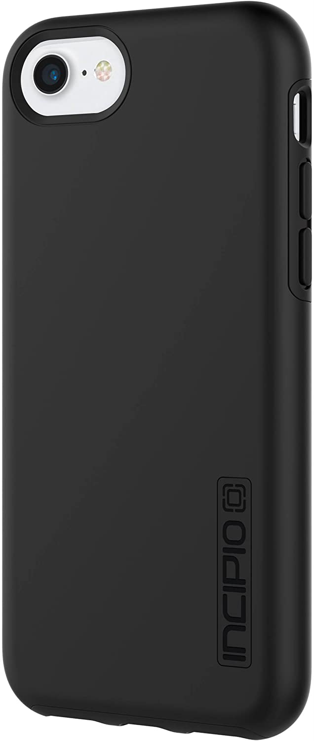 Incipio iPhone 7 Case, Hard Shell Dual Layer DualPro Case for iPhone 7-Black/Black