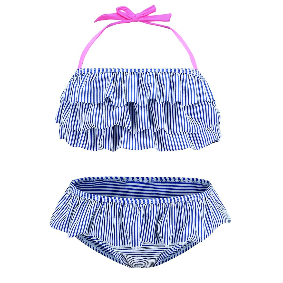 HowJoJo Girls Two Piece Bikini Swimsuit Floral Ruffle Swimwear Flounce Bathing Suit Set