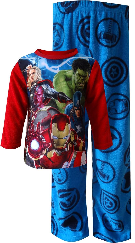 Avengers Big Boys' Lightning Strike 2-Piece Pajamas 8 21AX028BLLZA-P6