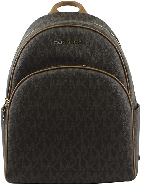 412cbe9e80f9d6 Michael Kors Abbey Jet Set Large Leather Backpack Brown 0128: Amazon.ca:  Shoes & Handbags