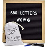 Changeable Felt Letter Board with a Massive 680 Letters Numbers & Symbols - 10 x 10 inches