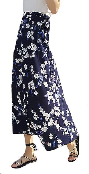 Falda Maxi Mujer Elegantes Falda De Verano Patrón Clásico ...