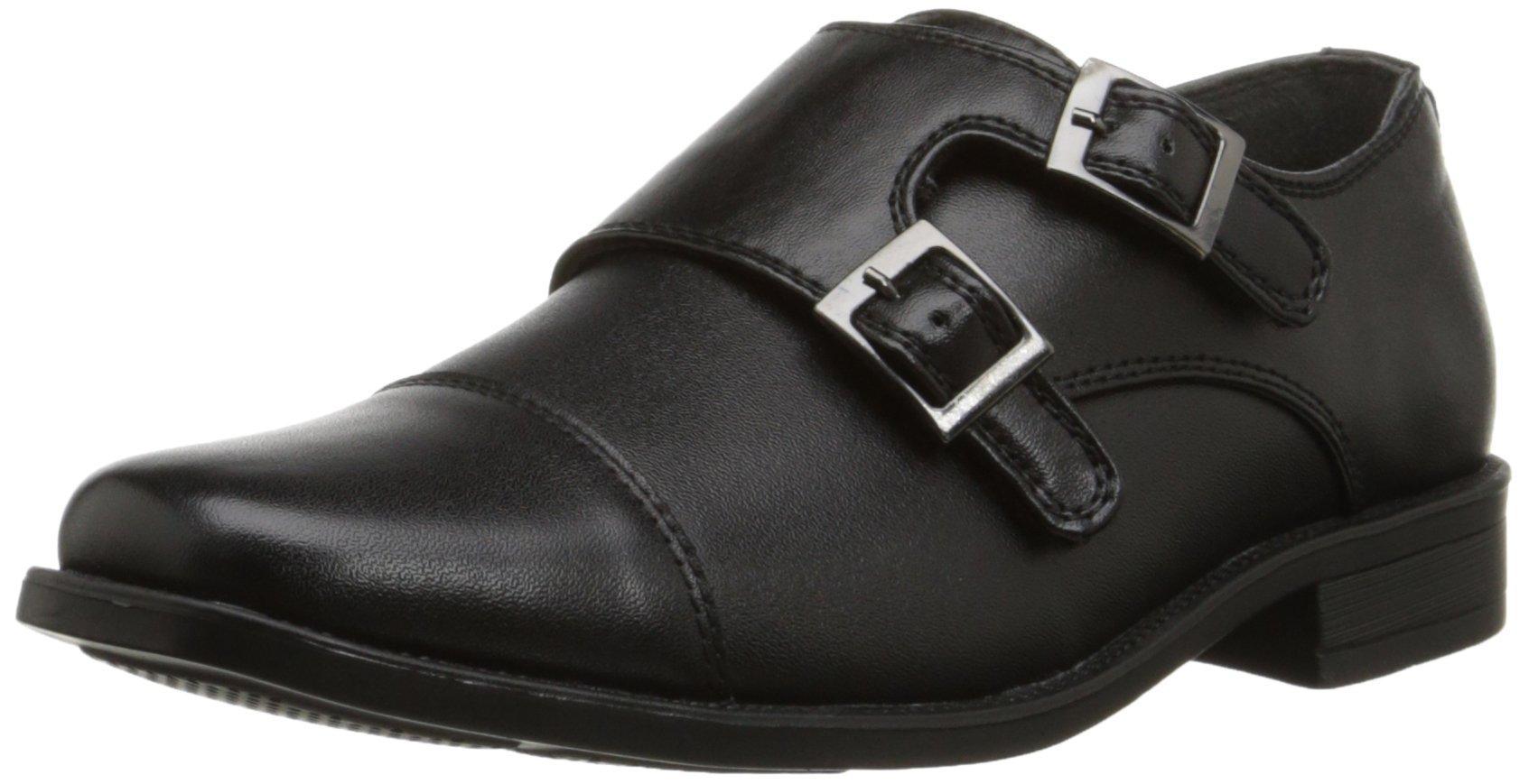 Steve Madden Chaaz Monk Strap Dress Shoe (Little Kid/Big Kid), Black, 13 M US Little Kid
