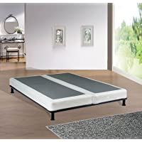 Spinal Solution, 4 inch Strong and Sturdy Assembled Traditional Wood Box Spring / Foundation for Mattress