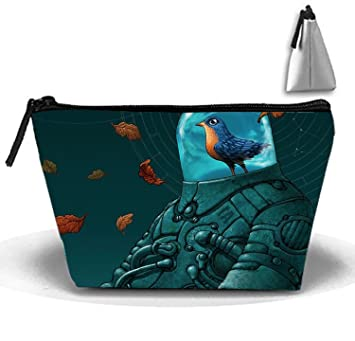 ed4ac9ca4dca Amazon.com : Bird In Space Suit Cosmetic Bags Travel Toiletry Pouch ...