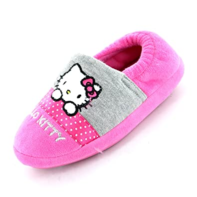 d6b1abb5e Hello Kitty Persian Pink Fluffy Slipper Size 8 Child UK: Amazon.co ...