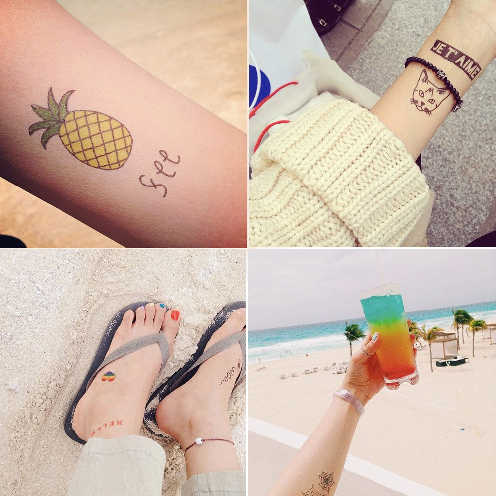 Foxjoy Temporary Tattoos, 200 Designs, 10 Sheets, 6x4 inches (Rapper) by Foxjoy (Image #3)