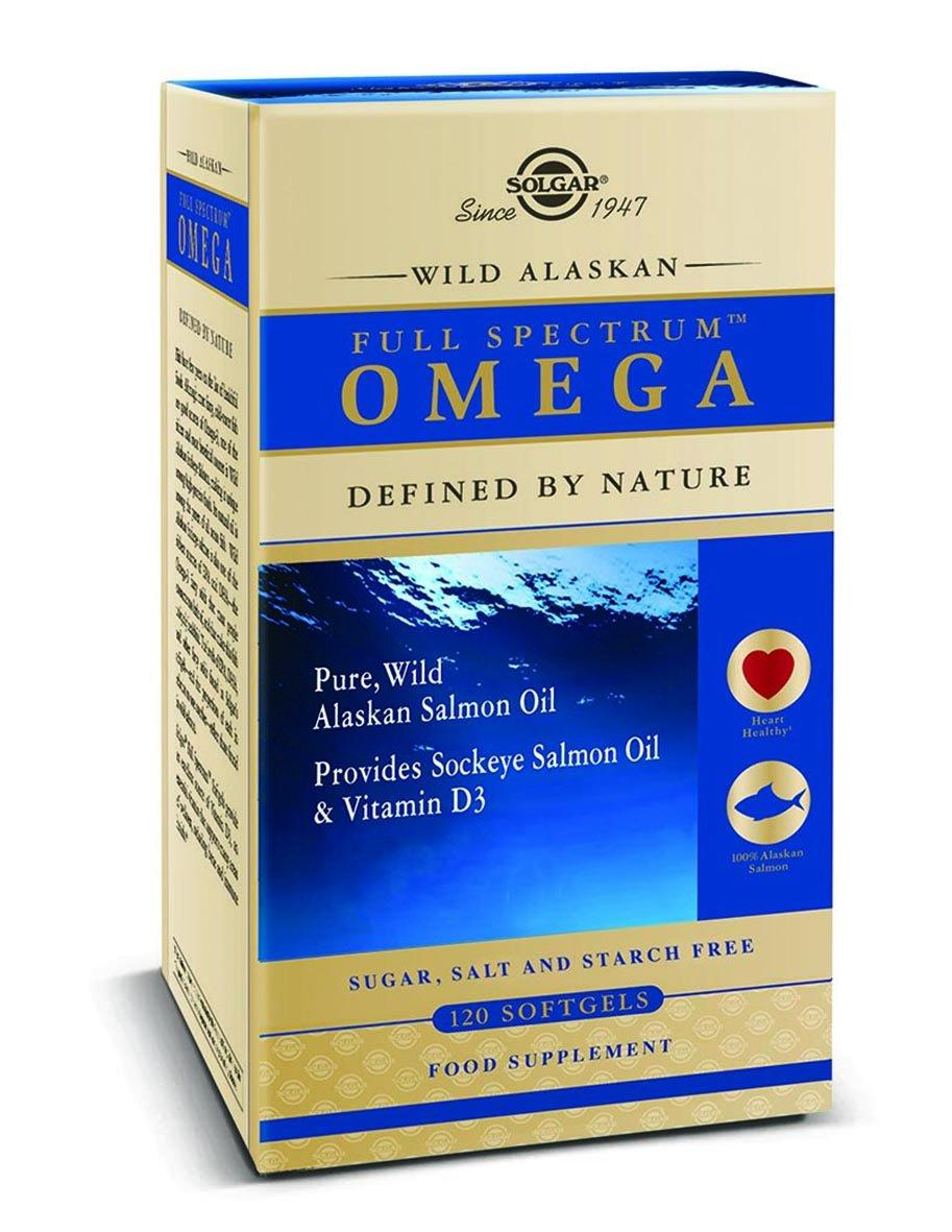 100% Aceite puro de salmón salvaje de Alaska que proporciona EPA, DHA y otros omegas 3, 5, 7 y 9. También contiene astaxantina y vitamina D3 - 120 ...