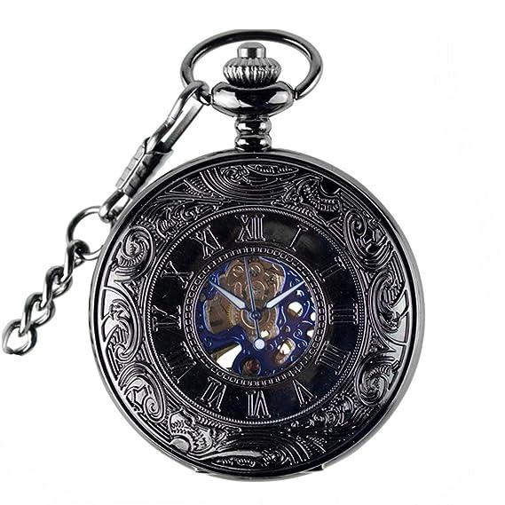 Reloj Steampunk 2019 para hombre, de Metal plateado, Retro