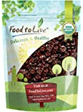 Certified Organic Montmorency Dried Tart Cherries by Food to Live (Lightly Sweetened, Pitted, Non-GMO, Kosher, Unsulfured, Sour, Bulk) — 8 Ounces