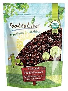 Organic Montmorency Dried Tart Cherries, 2 Pounds — Lightly Sweetened, Pitted, Non-GMO, Kosher, Unsulfured, Sour, Bulk