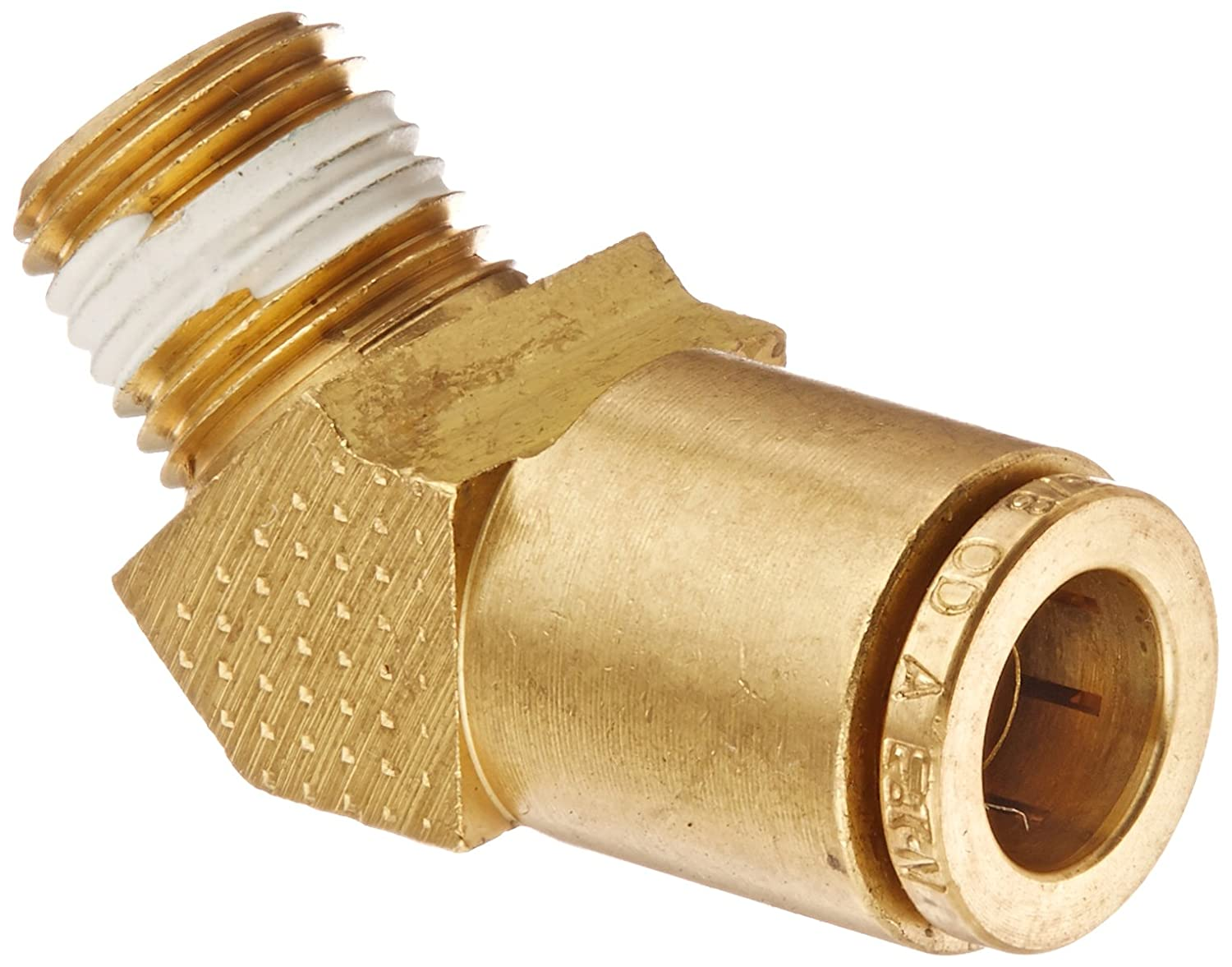 45 Degree Elbow Eaton Weatherhead 1880X12 Brass CA360 D.O.T 1//2 NPT Male x 3//4 Tube OD Air Brake Tube Fitting