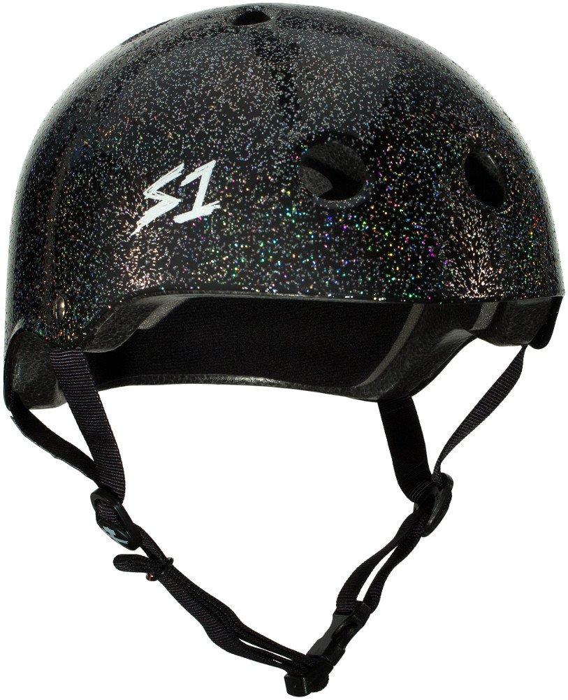 S-ONE Lifer CPSC - Multi-Impact Helmet - Black Gloss Glitter - Small (21'')