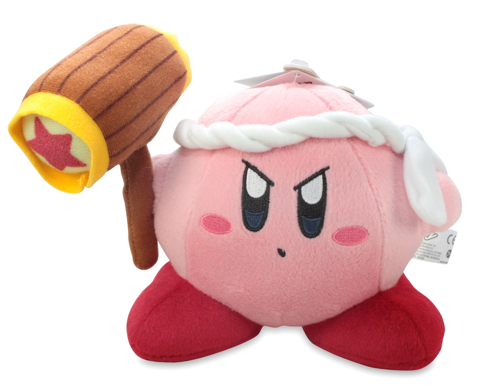 Little Buddy Official Kirby Adventure Hammer Kirby 6'' Plush Doll by Little Buddy Toys