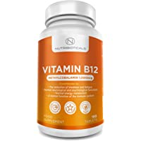 "Vitamin B12 Methylcobalamin 1000mcg 180 Tablets (6 Month Supply) | Reduction of tiredness and fatigue & normal function of the immune system - AMAZON'S CHOICE for ""Vitamin B12"""