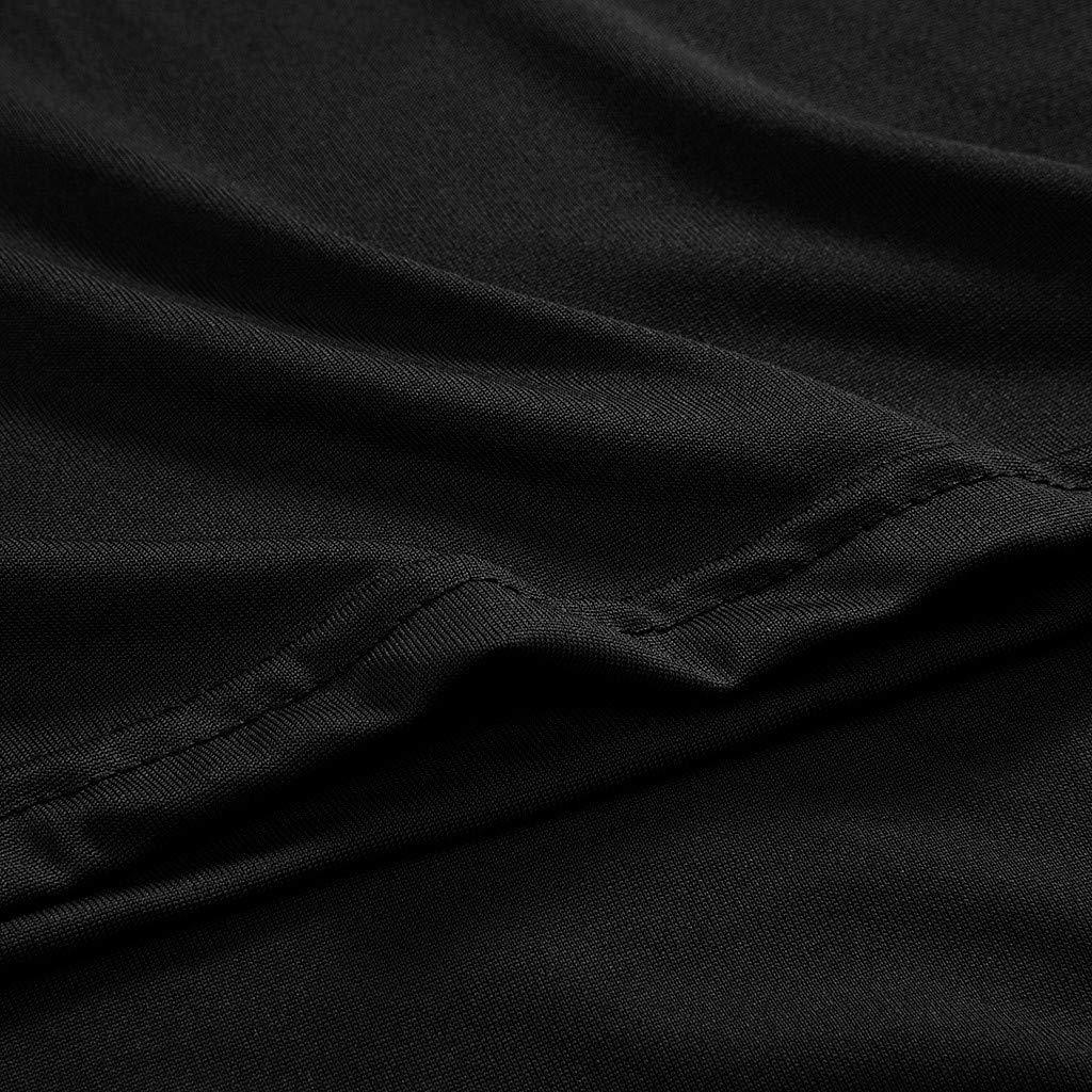 VEMOW Tops Blusa sin Mangas de Cuello Alto sin Mangas con Cuello Redondo Camiseta de Manga Larga y Talla Grande