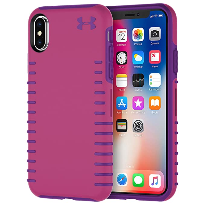 fd16fa841a Under Armour UA Protect Grip Case for iPhone X - Pink/Purple - In Retail  Packaging