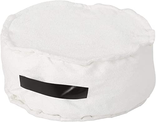 Deal of the week: Christopher Knight Home Alice White Fabric Round Bean Bag Ottoman