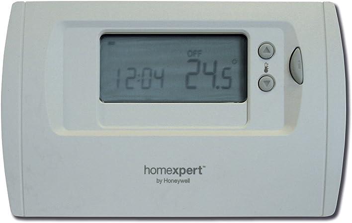 Crema Honeywell Home THR870B Termostato programable gris y negro Homexpert by HONEYWELL