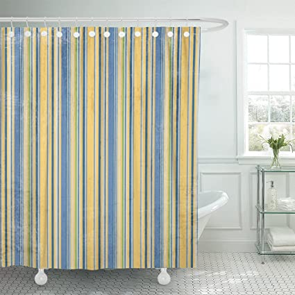 Image Unavailable Not Available For Color TOMPOP Shower Curtain Navy Royal Yellow Blue