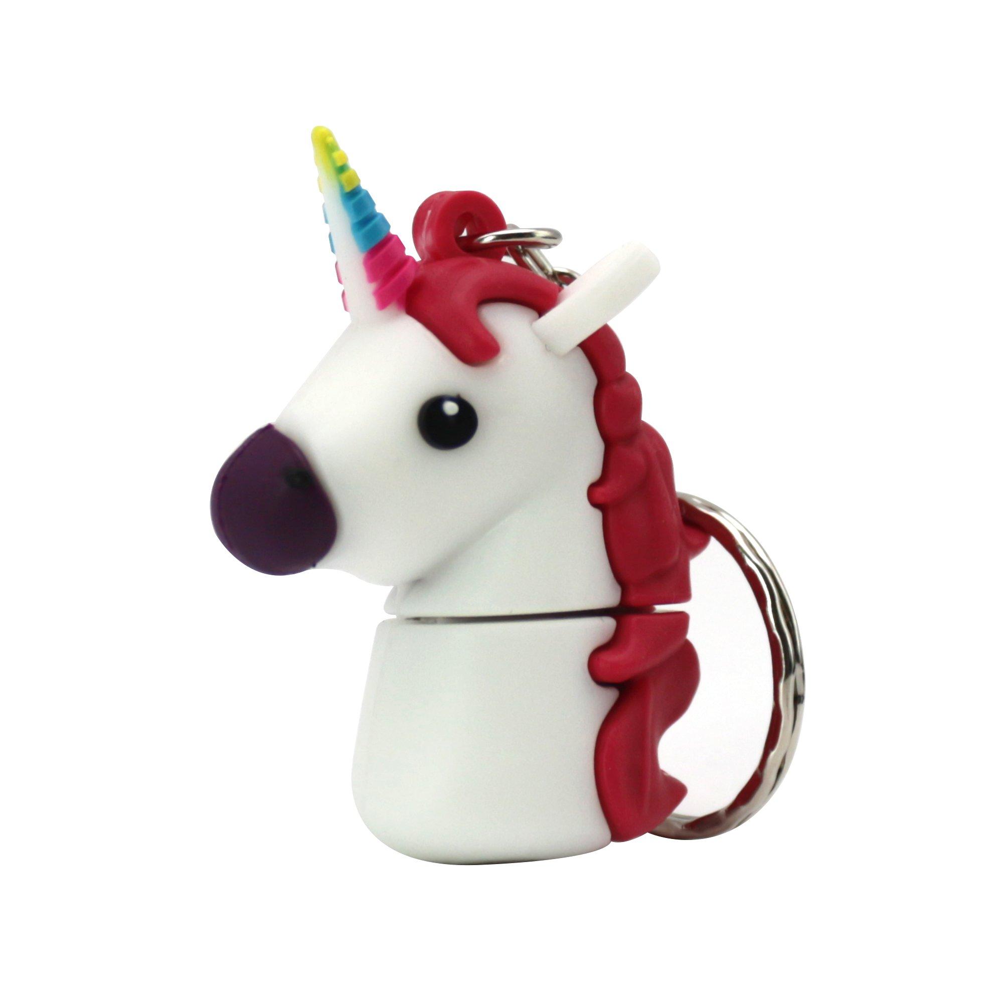 Sundiao Lovely Cartoon Unicorn PVC USB Flash Drive 2.0 Cute Gift USB Flash Memory Disk USB Flash Stick Pen Drive (32GB, White)