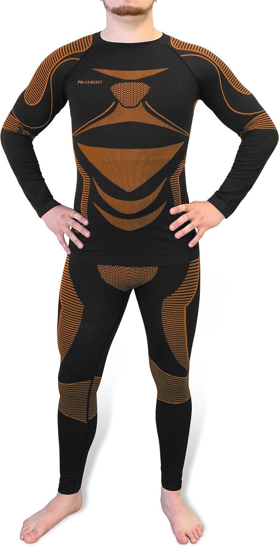 Polar Husky/® Herren Funktionsunterw/äsche Set Extreme Active Wear bestehend aus Hemd und Hose