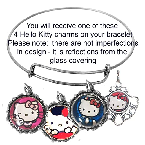 f75b58797 Image Unavailable. Image not available for. Color: Mossy Cabin Hello Kitty  Adjustable Bracelet