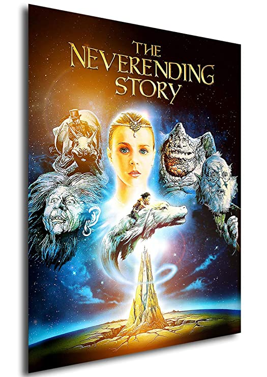 Instabuy Poster The Neverending Story (La Historia interminable) Vintage Movie Poster - A3 (42x30 cm)