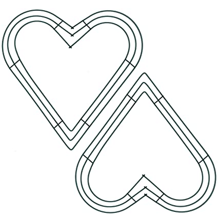 Amazon.com: Sumind 2 Pack 12 Inch Heart Wire Wreath Frame Metal ...