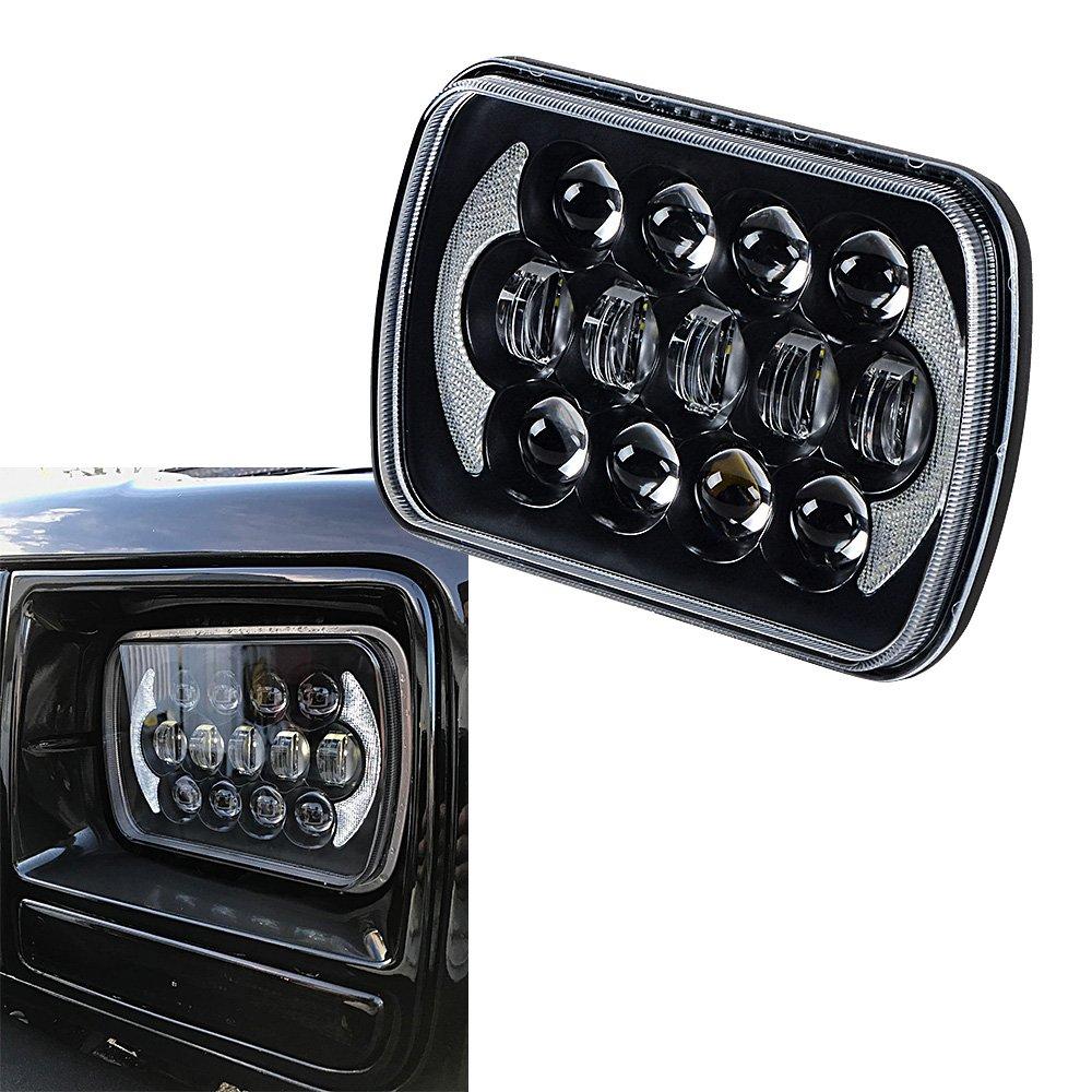 "Amazon.com: 7""x 5"" CREE LED Rectangular Headlight For Jeep Wrangler YJ  Cherokee XJ Comanche MJ H6054 H5054 H6054LL 69822 6052 6053: Automotive"